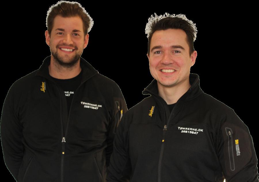 Tømrerne Tobias og Kristian